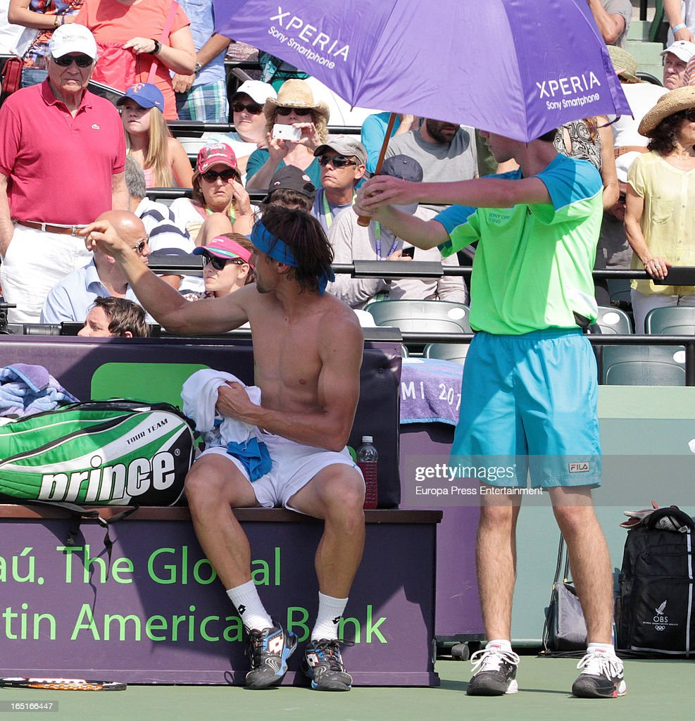 <a gi-track='captionPersonalityLinkClicked' href=/galleries/search?phrase=David+Ferrer&family=editorial&specificpeople=208197 ng-click='$event.stopPropagation()'>David Ferrer</a> of Spain during the final of the Sony Open against Andy Murray of Great Britain at Crandon Park Tennis Center on March 31, 2013 in Key Biscayne, Florida.
