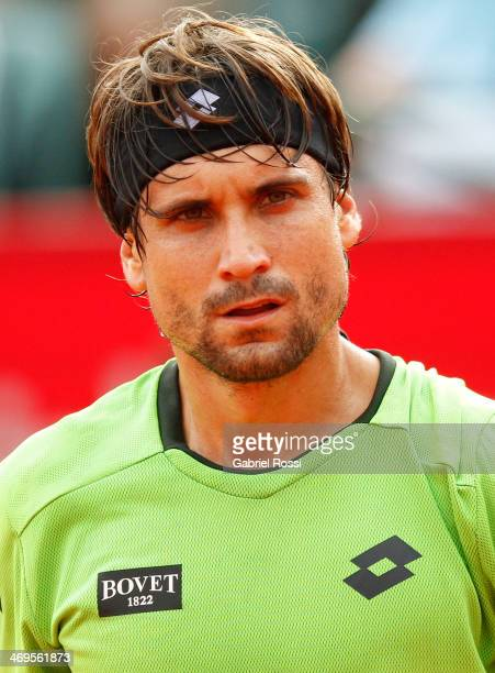 David Ferrer of Spain looks on during a tennis match between David Ferrer and Nicolas Almagro as part of ATP Buenos Aires Copa Claro on February 15...