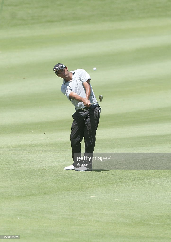 David Ferreyra plays a shot during the opening day of the 107 Visa Golf Open presented by Peugeot as part of the PGA Latin America at Nordelta Golf Club on December 13, 2012 in Buenos Aires, Argentina.