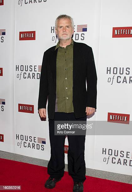 David Fincher poses on the red carpet during the Netflix's 'House Of Cards' Washington DC Screening at NEWSEUM on January 29 2013 in Washington DC
