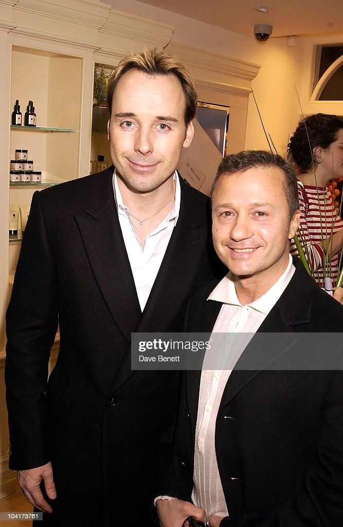 David Firnish With Jacques Azugari (the Queens Designer), The Skin Care Speacialist Jo Malone Opened Her New Flagship Store In Brook St Near Clarridges And Her Friends Turned Up To Support Her