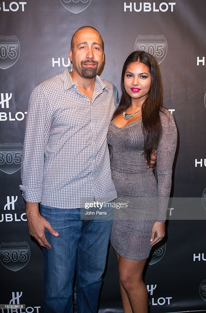 David Fizdale and Natasha Sen attend the Hublot Introduces The King Power '305' Timepiece at W South Beach Hotel & Residences on September 26, 2012 in Miami Beach, Florida.