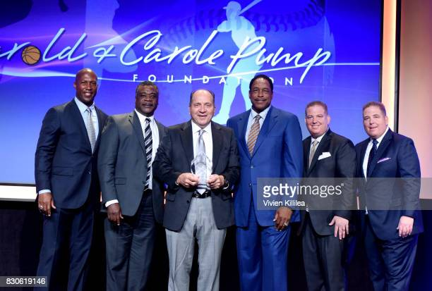David Fizdale Eddie Murray Johnny Bench Dave Winfield Dana Pump and David Pump attend the 17th Annual Harold Carole Pump Foundation Gala at The...