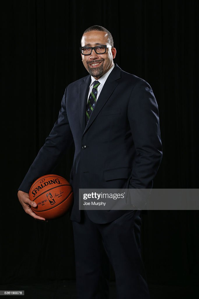 David Fizdale head coach of the Memphis Grizzlies poses for a portrait before a press conference on May 31, 2016 at FedExForum in Memphis, Tennessee.