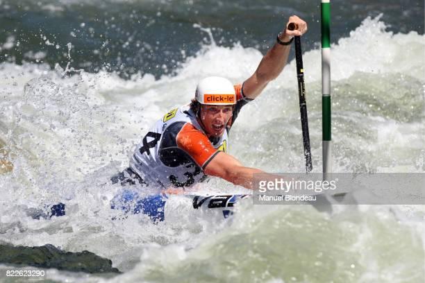 David FLORENCE C1 Qualification Canoe Kayak Slalom Championnat du Monde 2009 La Seu d Urgell Espagne 11/09/09