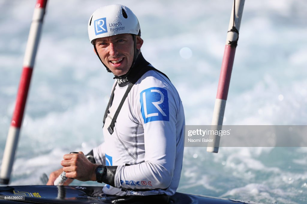 David Florence of Great Britain looks on during training at Lee Valley White Water Centre on September 13, 2017 in London, England.