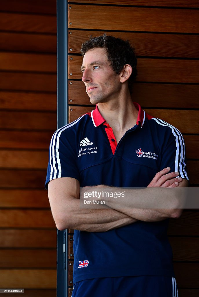 David Florence of Great Britain poses for a portrait during the Team GB Canoe Slalom Olympic Media Day at the Lee Valley White Water Centre on May 05, 2016 in London, England.