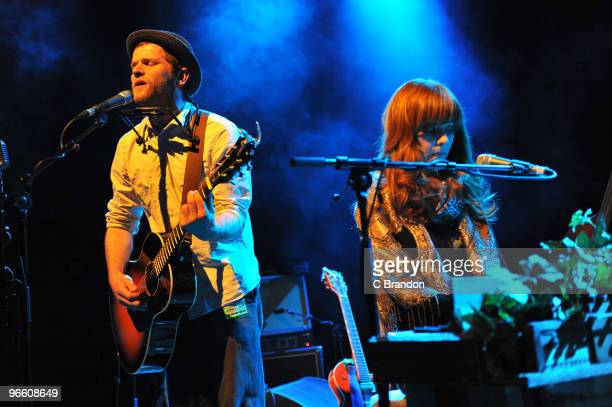 David Ford and Hannah Peel perform on stage at Shepherds Bush Empire on February 11 2010 in London England