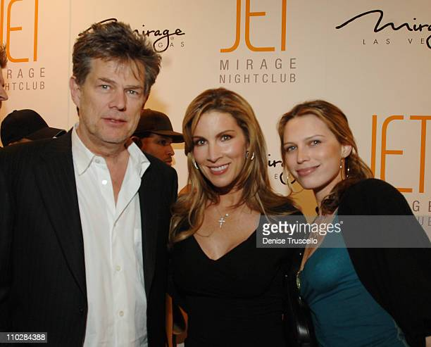 David Foster Alicia Jacobs and Sara Foster during Jet Nightclub at The Mirage Grand Opening Celebration Red Carpet Arrivals at Jet Nightclub at The...