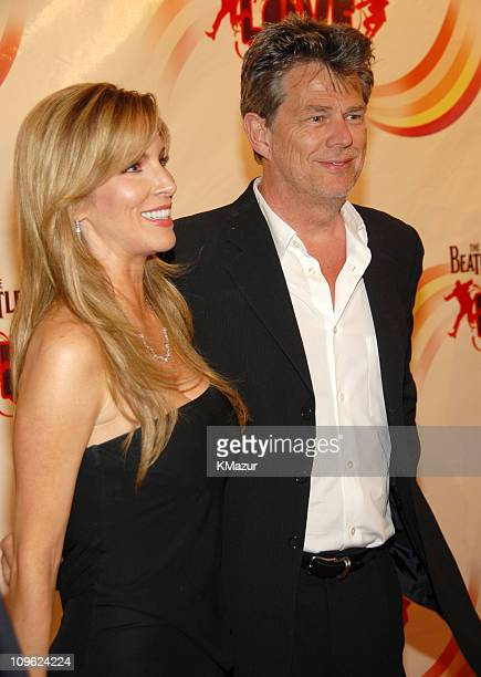 David Foster and Alicia Jacobs during 'LOVE' Cirque du Soleil Celebrates the Musical Legacy of The Beatles Red Carpet at The Mirage Hotel and Casino...