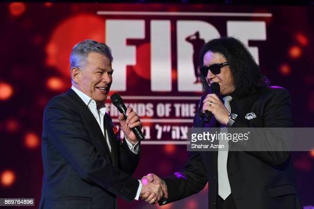 David Foster and Gene Simmons at the FIDF Western Region Gala held at The Beverly Hilton Hotel on November 2 2017 in Beverly Hills California
