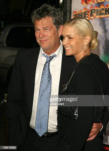 David Foster and guest during 'Tenacious D In the Pick of Destiny' Los Angeles Premiere Arrivals at Grauman's Chinese Theater in Hollywood California...
