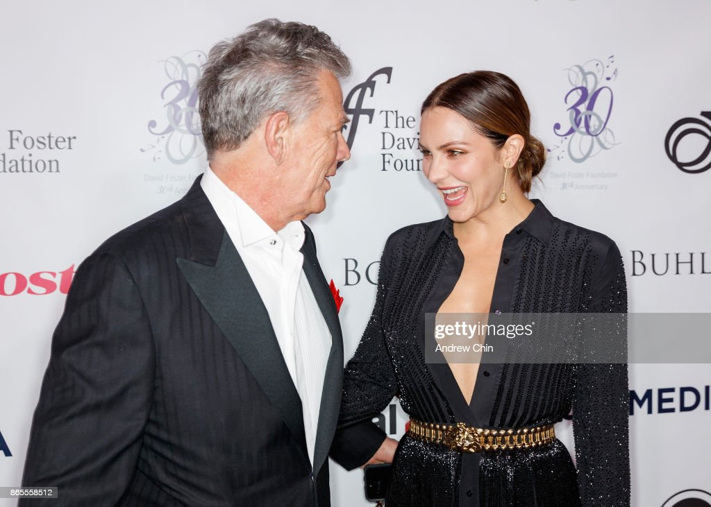 David Foster and Katharine McPhee attend the David Foster Foundation Gala at Rogers Arena on October 21, 2017 in Vancouver, Canada.