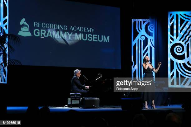 David Foster and Katharine McPhee perform at 2017 GRAMMY Museum Gala Honoring David Foster at The Novo by Microsoft on September 19 2017 in Los...