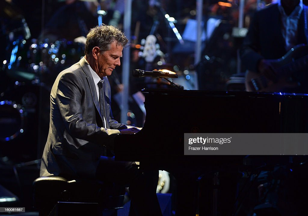David Foster celebrating Yamaha's 125th Anniversary Live Around the World Dealer Concert performs at the Hyperion Theater on January 25, 2013 in Anaheim, California.