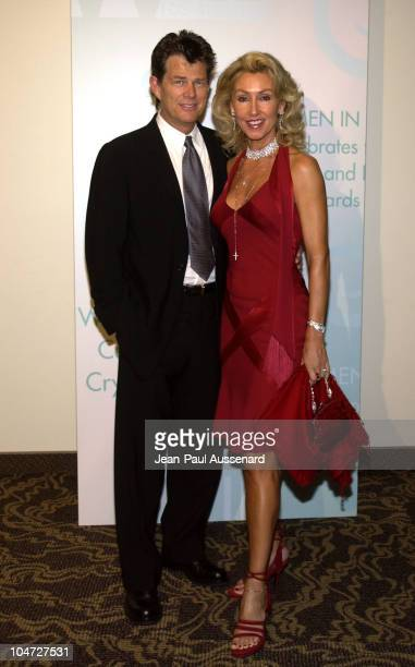 David Foster Linda Thompson during 2002 Women In Film Crystal Lucy Awards at Century Plaza Hotel in Century City California United States