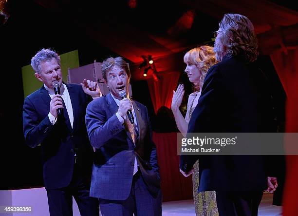 David Foster Martin Short emcee Kathy Griffin and host Kurt Russell speak at Goldie Hawn's inaugural 'Love In For Kids' benefiting the Hawn...