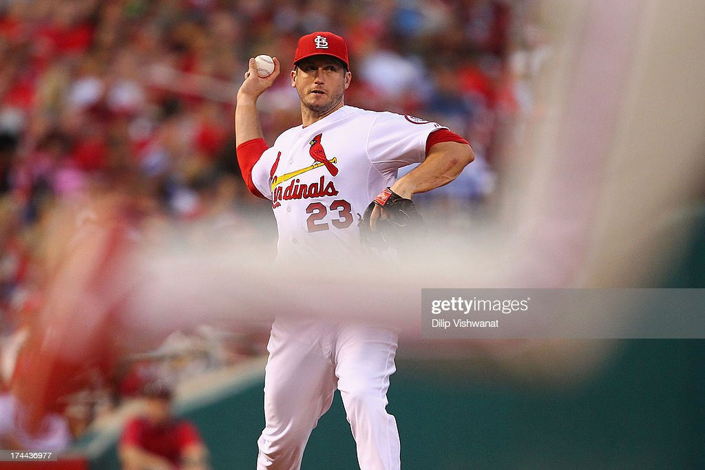 <a gi-track='captionPersonalityLinkClicked' href=/galleries/search?phrase=David+Freese+-+Baseball+Player&family=editorial&specificpeople=4948315 ng-click='$event.stopPropagation()'>David Freese</a> #23 of the St. Louis Cardinals throws out a runner at first base against the Philadelphia Phillies in the sixth inning at Busch Stadium on July 25, 2013 in St. Louis, Missouri. The Cardinals beat the Phillies 3-1.
