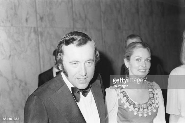 David Frost and actress Alexandra Bastedo who starred in 'The Champion' attend the premiere of 'The Great Gatsby' at the Empire Cinema in Leicester...