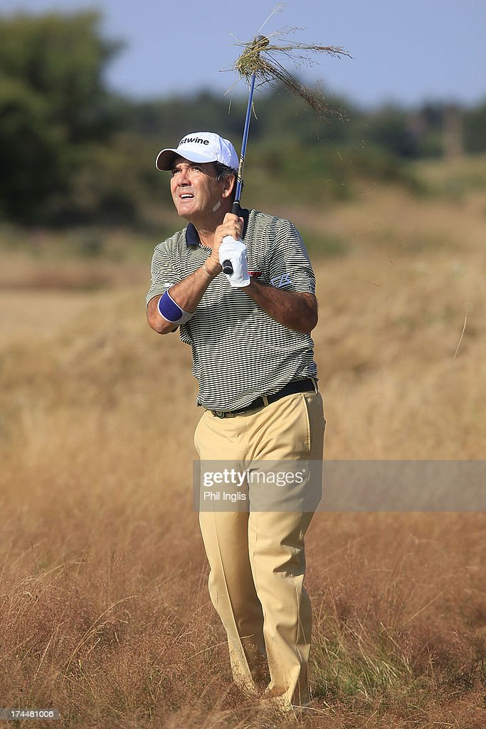 David Frost of South Africa in action during the second round of The Senior Open Championship played at Royal Birkdale Golf Club on July 26, 2013 in Southport, United Kingdom.