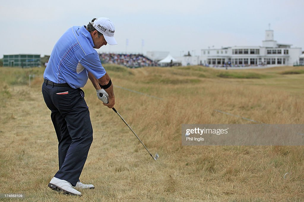 David Frost of South Africa in action during the third round of The Senior Open Championship played at Royal Birkdale Golf Club on July 27, 2013 in Southport, United Kingdom.