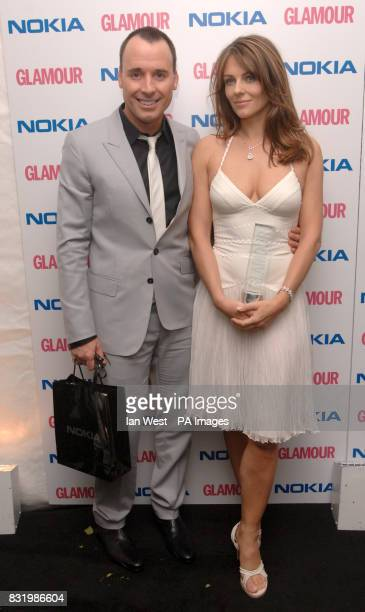 David Furnish and Elizabeth Hurley during the Glamour Women of the Year awards at Berkeley Square central London
