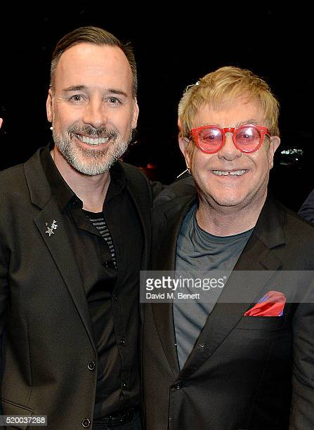 David Furnish and Elton John join the cast backstage for the last ever West End performance of Billy Elliot The Musical at Palace Theatre on April 9...