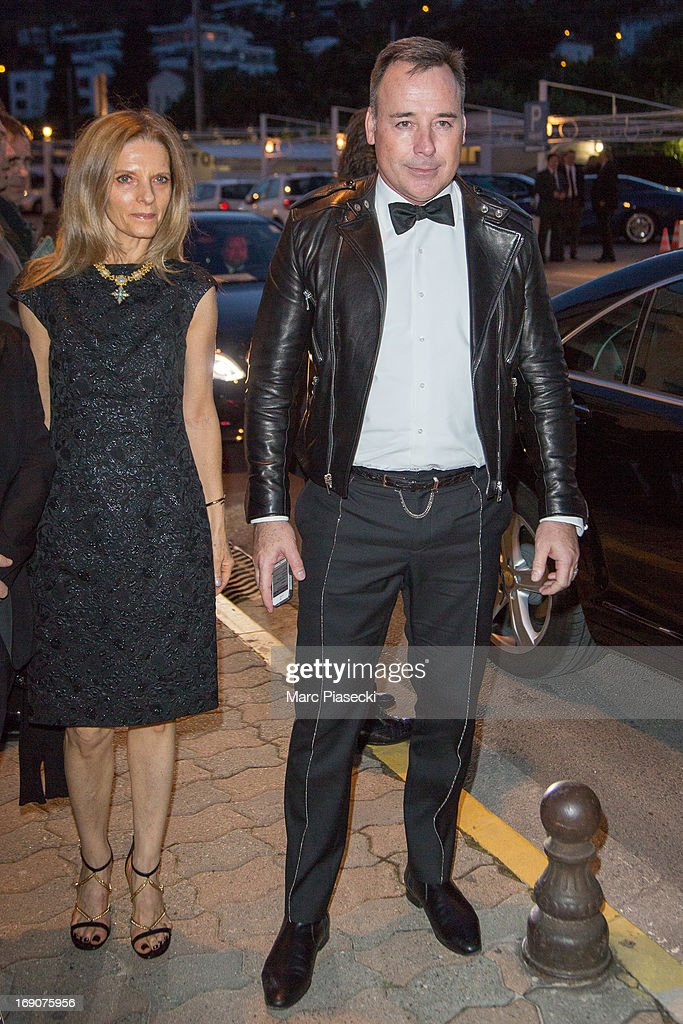 <a gi-track='captionPersonalityLinkClicked' href=/galleries/search?phrase=David+Furnish&family=editorial&specificpeople=220203 ng-click='$event.stopPropagation()'>David Furnish</a> and guest arrive to attend the 'Vanity Fair Chanel' dinner at 'Tetou' restaurant during the 66th Annual Cannes Film Festival on May 19, 2013 in Le Golfe Juan, France.