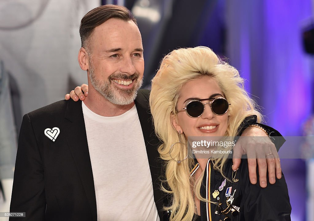 <a gi-track='captionPersonalityLinkClicked' href=/galleries/search?phrase=David+Furnish&family=editorial&specificpeople=220203 ng-click='$event.stopPropagation()'>David Furnish</a> (L) and <a gi-track='captionPersonalityLinkClicked' href=/galleries/search?phrase=Lady+Gaga&family=editorial&specificpeople=4456754 ng-click='$event.stopPropagation()'>Lady Gaga</a> attend Love Bravery by <a gi-track='captionPersonalityLinkClicked' href=/galleries/search?phrase=Lady+Gaga&family=editorial&specificpeople=4456754 ng-click='$event.stopPropagation()'>Lady Gaga</a> and Elton John Launch at Macy's Herald Square on May 4, 2016 in New York City.
