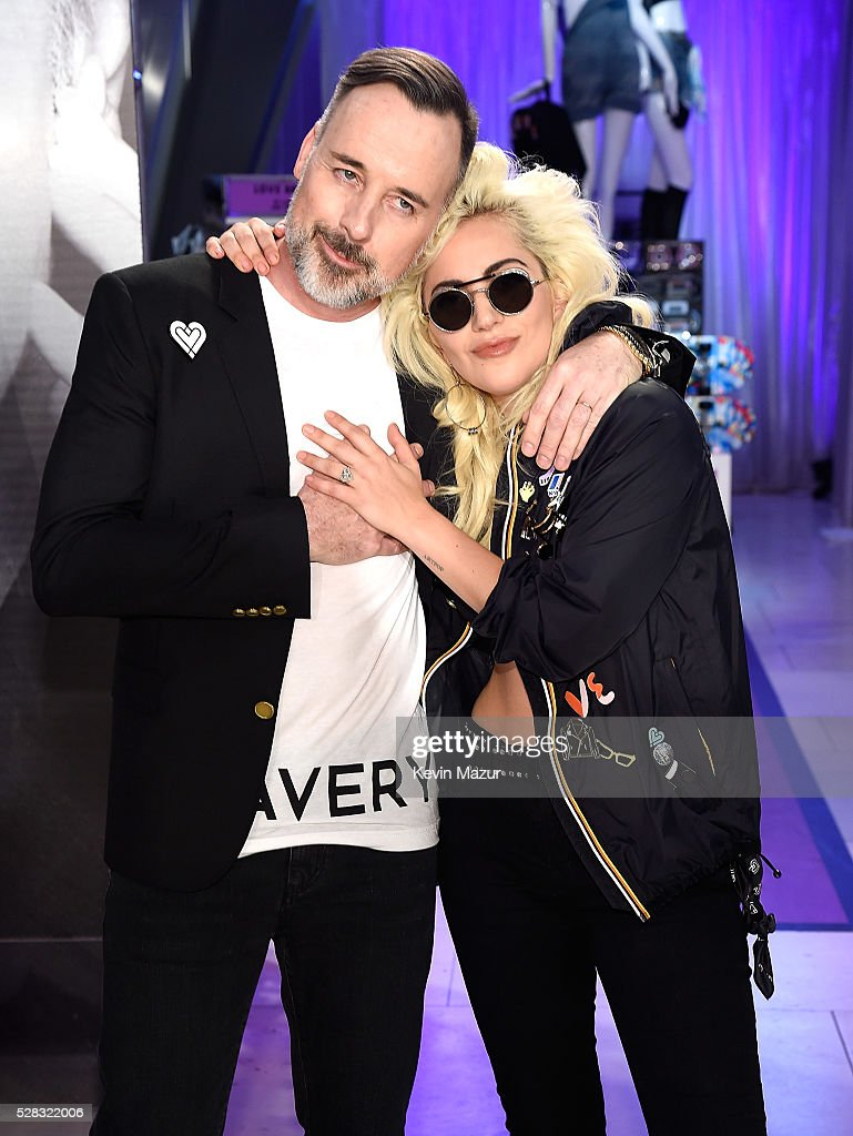 David Furnish and <a gi-track='captionPersonalityLinkClicked' href=/galleries/search?phrase=Lady+Gaga&family=editorial&specificpeople=4456754 ng-click='$event.stopPropagation()'>Lady Gaga</a> attend the launch of 'Bravery' by <a gi-track='captionPersonalityLinkClicked' href=/galleries/search?phrase=Lady+Gaga&family=editorial&specificpeople=4456754 ng-click='$event.stopPropagation()'>Lady Gaga</a> and Elton John at Macy's Herald Square on May 4, 2016 in New York City.