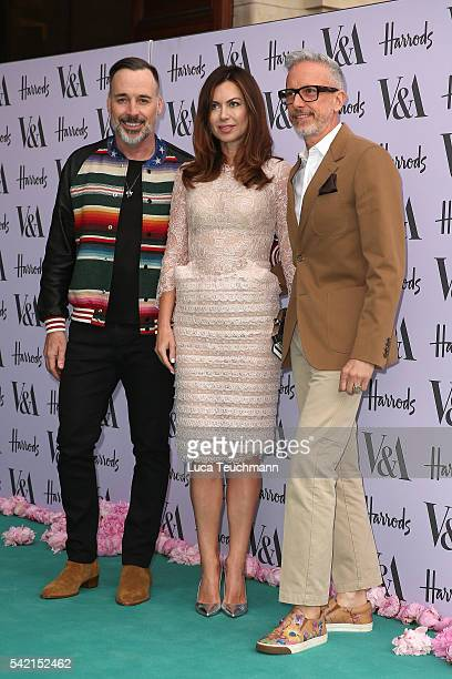 David Furnish and Patrick Cox arrive for the VA Summer Party at Victoria and Albert Museum on June 22 2016 in London England