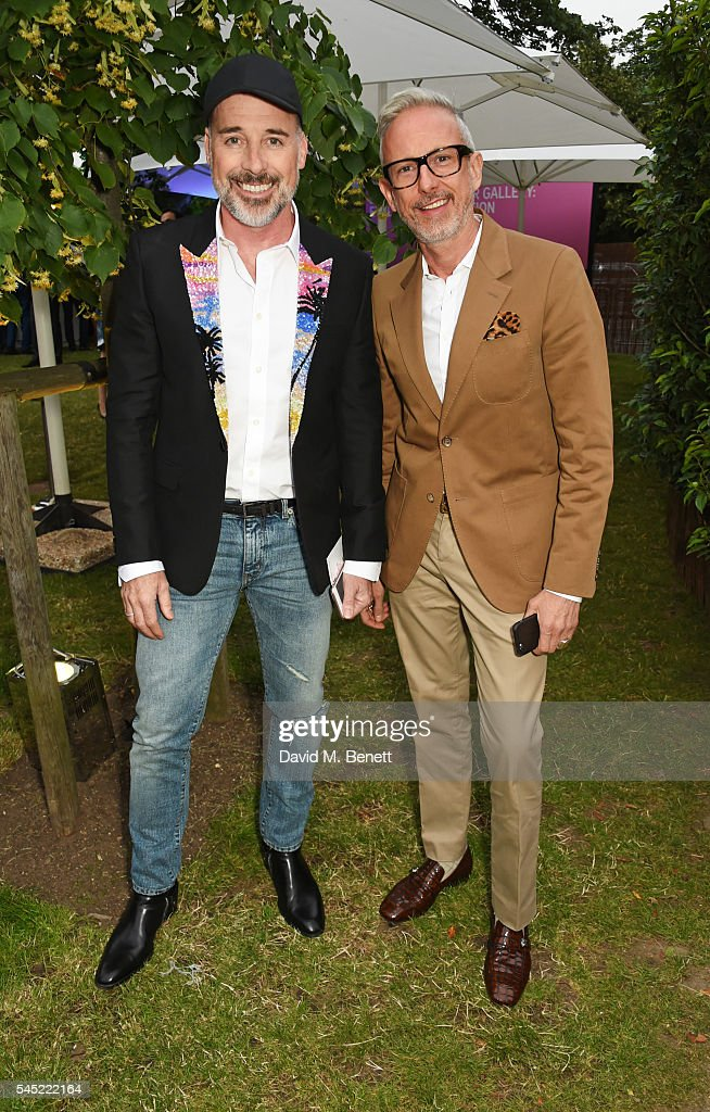 David Furnish and Patrick Cox attend The Serpentine Summer Party cohosted by Tommy Hilfiger on July 6 2016 in London England