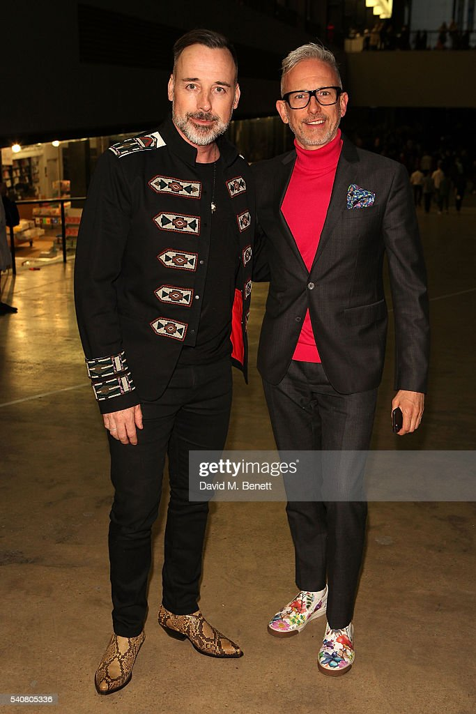 David Furnish and Patrick Cox attends the launch of the Tate Modern extension on June 16 2016 in London England