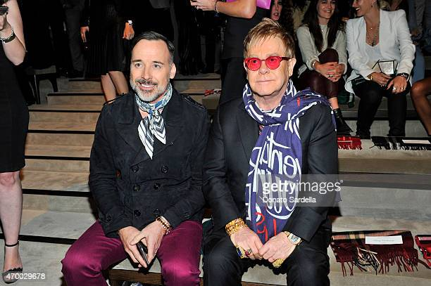 David Furnish and Sir Elton John attend the Burberry 'London in Los Angeles' event at Griffith Observatory on April 16 2015 in Los Angeles