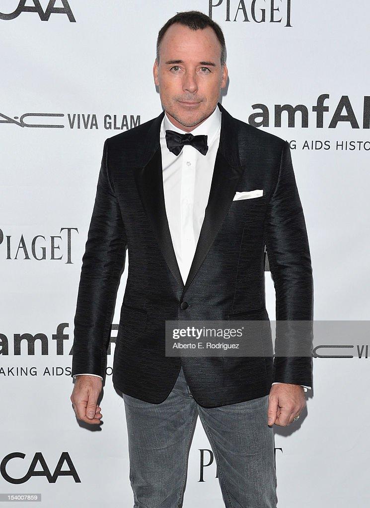 David Furnish arrives at amfAR's Inspiration Gala at Milk Studios on October 11, 2012 in Hollywood, California.