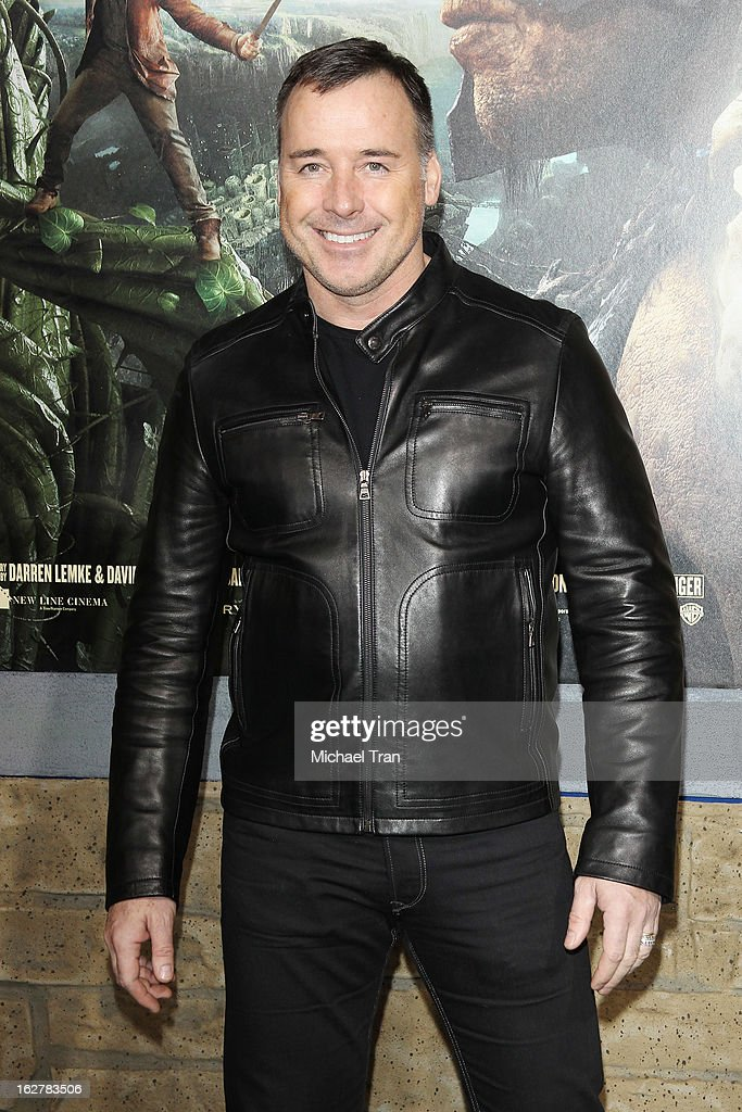 David Furnish arrives at the Los Angeles premiere of 'Jack The Giant Slayer' held at TCL Chinese Theatre on February 26, 2013 in Hollywood, California.