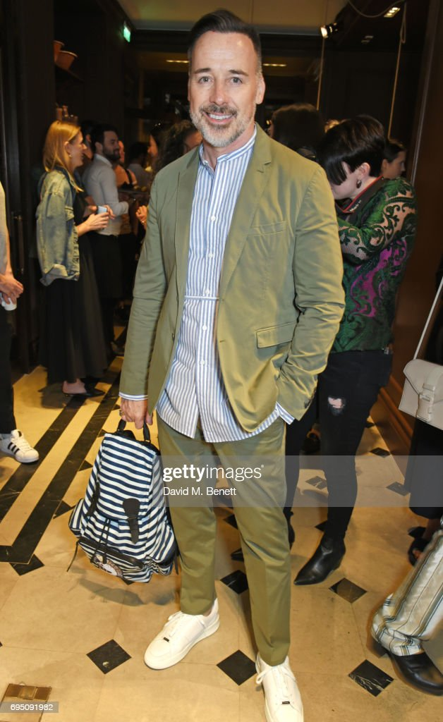 David Furnish attends a breakfast hosted by Christopher Bailey, Dame Natalie Massenet and Dylan Jones in celebration of London Fashion Week Men's at Thomas's on June 12, 2017 in London, Englan