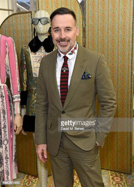 David Furnish attends a cocktail event for the launch of a special Gucci PreFall capsule exclusive to Dover Street Market on June 9 2017 in London...