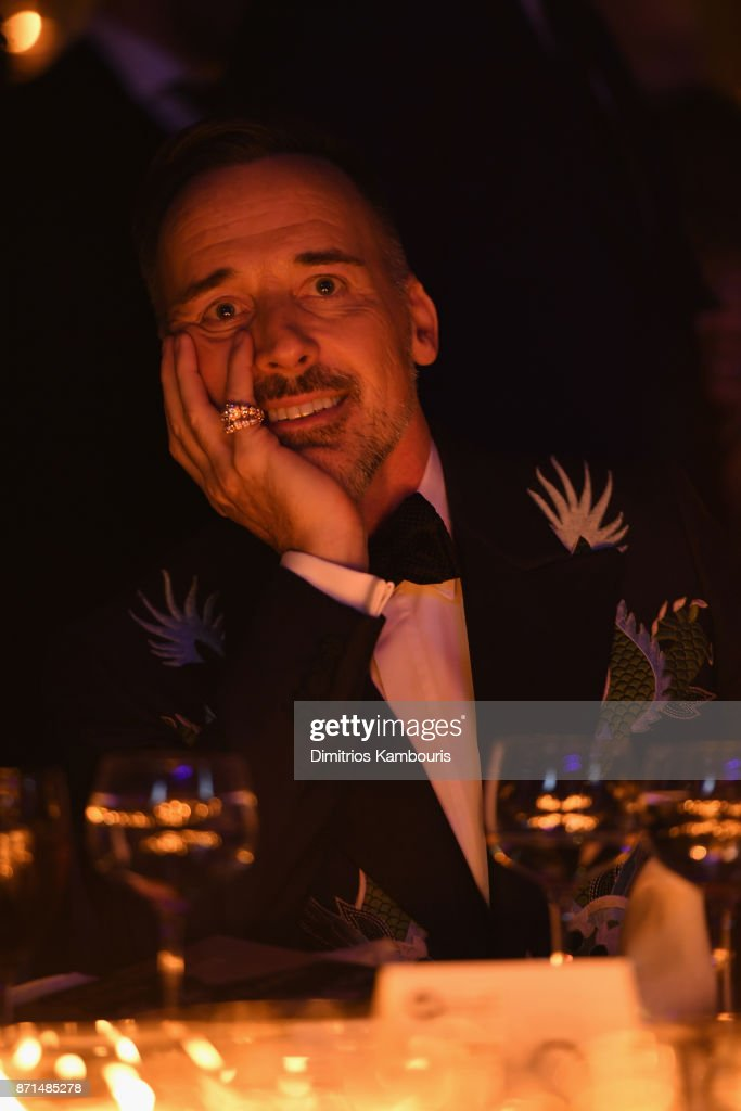 David Furnish attends the Elton John AIDS Foundation Commemorates Its 25th Year And Honors Founder Sir Elton John During New York Fall Gala at Cathedral of St. John the Divine on November 7, 2017 in New York City.