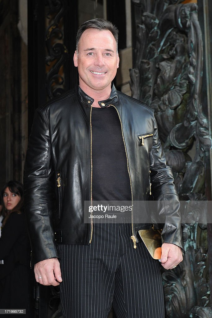 <a gi-track='captionPersonalityLinkClicked' href=/galleries/search?phrase=David+Furnish&family=editorial&specificpeople=220203 ng-click='$event.stopPropagation()'>David Furnish</a> attends the Versace show as part of Paris Fashion Week Haute-Couture Fall/Winter 2013-2014 at on June 30, 2013 in Paris, France.