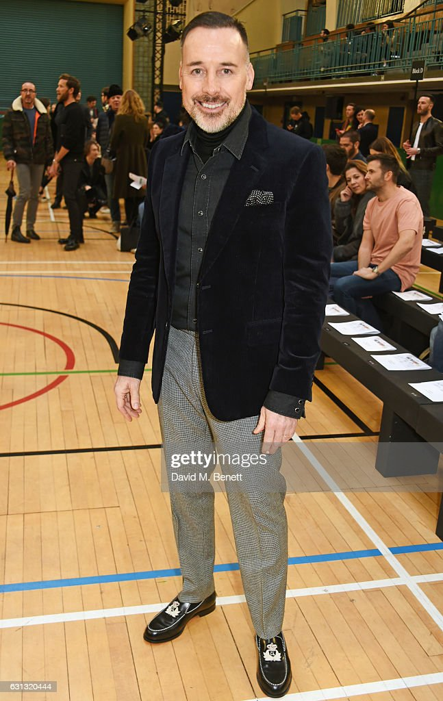David Furnish attends the Vivienne Westwood show during London Fashion Week Men's January 2017 collections at Seymour Leisure Centre on January 9, 2017 in London, England.