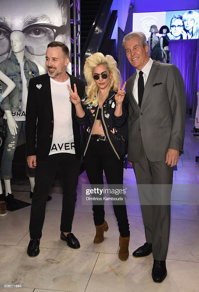 <a gi-track='captionPersonalityLinkClicked' href=/galleries/search?phrase=David+Furnish&family=editorial&specificpeople=220203 ng-click='$event.stopPropagation()'>David Furnish</a>, <a gi-track='captionPersonalityLinkClicked' href=/galleries/search?phrase=Lady+Gaga&family=editorial&specificpeople=4456754 ng-click='$event.stopPropagation()'>Lady Gaga</a> and Macy's CEO Terry J. Lundgren attend Love Bravery by <a gi-track='captionPersonalityLinkClicked' href=/galleries/search?phrase=Lady+Gaga&family=editorial&specificpeople=4456754 ng-click='$event.stopPropagation()'>Lady Gaga</a> and Elton John Launch at Macy's Herald Square on May 4, 2016 in New York City.