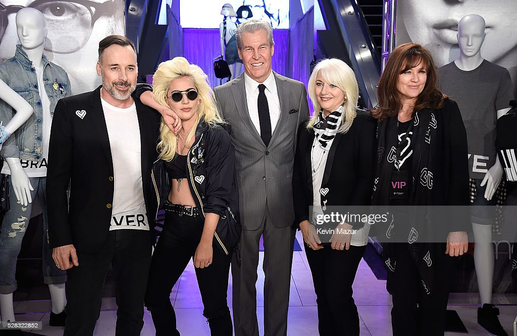 <a gi-track='captionPersonalityLinkClicked' href=/galleries/search?phrase=David+Furnish&family=editorial&specificpeople=220203 ng-click='$event.stopPropagation()'>David Furnish</a>, <a gi-track='captionPersonalityLinkClicked' href=/galleries/search?phrase=Lady+Gaga&family=editorial&specificpeople=4456754 ng-click='$event.stopPropagation()'>Lady Gaga</a>, Macy's CEO Terry J. Lundgren, Born This Way Foundation Co-Founder <a gi-track='captionPersonalityLinkClicked' href=/galleries/search?phrase=Cynthia+Germanotta&family=editorial&specificpeople=6745042 ng-click='$event.stopPropagation()'>Cynthia Germanotta</a> and Elton John AIDS Foundation's Anne Aslett attend the launch of 'Bravery' by <a gi-track='captionPersonalityLinkClicked' href=/galleries/search?phrase=Lady+Gaga&family=editorial&specificpeople=4456754 ng-click='$event.stopPropagation()'>Lady Gaga</a> and Elton John at Macy's Herald Square on May 4, 2016 in New York City.
