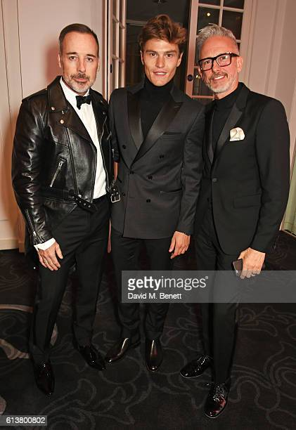 David Furnish Oliver Cheshire and Patrick Cox attend the Attitude Awards 2016 in association with Virgin Holidays at 8 Northumberland Avenue on...