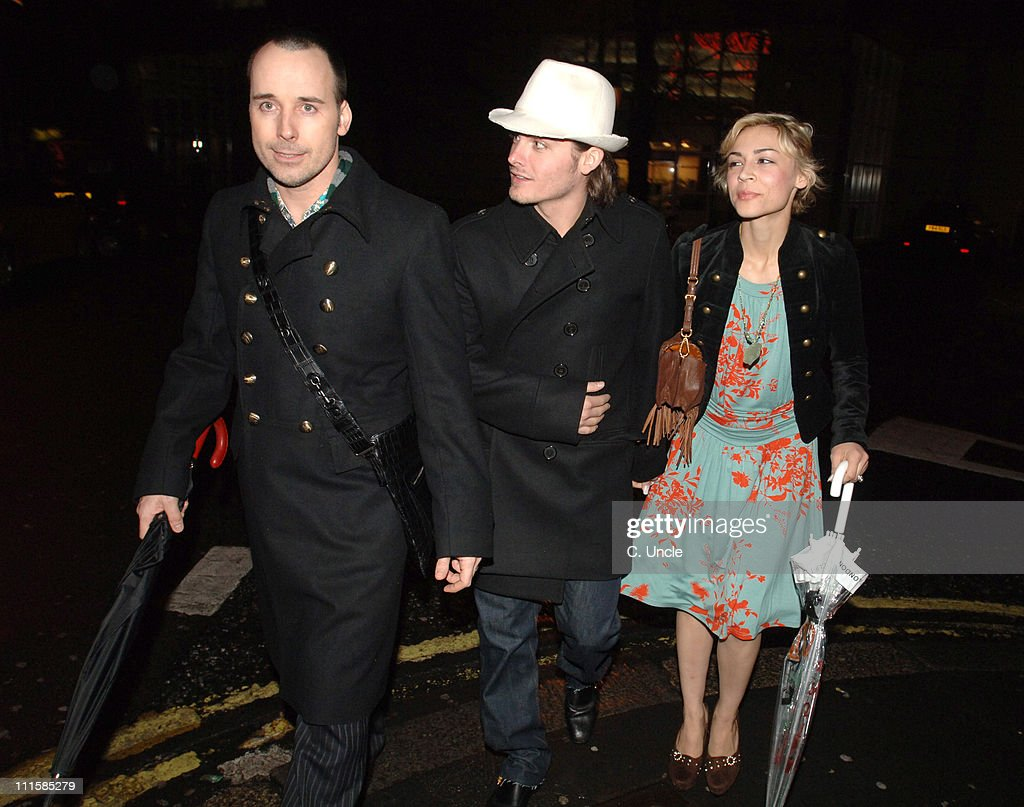 David Furnish (L), Samaire Armstrong (R) and guest