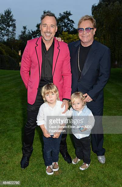 APPLIES David Furnish Zachary FurnishJohn Elijah FurishJohn and Sir Elton John attend the Woodside End of Summer party to benefit the Elton John AIDS...