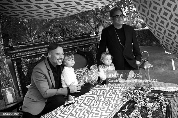 David Furnish Zachary FurnishJohn Elijah FurishJohn and Sir Elton John are seen during the Woodside End of Summer party to benefit the Elton John...