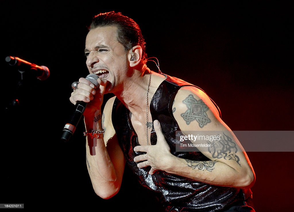 David Gahan of Depeche Mode performs as part of the Austin City Limits Music Festival Day One at Zilker Park on October 11 2013 in Austin Texas