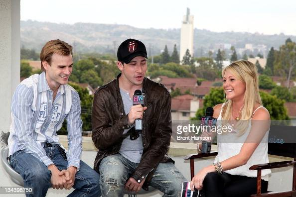 David Gallagher Josh Sugarman and Katie Krause at the 'Trophy Kids' Press Junket at Hollywire Studios on June 8 2011 in Los Angeles California