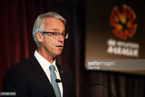 David Gallop speaks during the 2016/17 ALeague Season Launch at ANZ Stadium on October 4 2016 in Sydney Australia